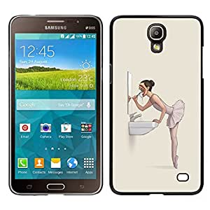 Caucho caso de Shell duro de la cubierta de accesorios de protección BY RAYDREAMMM - Samsung Galaxy Mega 2 - El mal de la bailarina Nightmare - Goth
