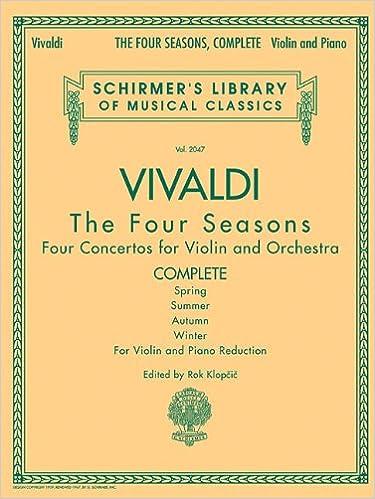 amazon antonio vivaldi the four seasons complete for violin