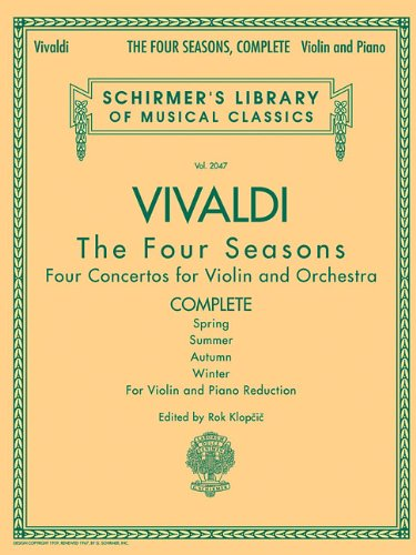 Schirmer Library of Classics Volume 2047: for Violin and Piano Reduction