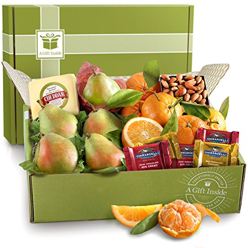 Orchard Fruit Basket - Harvest Favorites, Fruit and Gourmet Gift Box