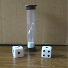 30 second Board / RPG Game Timer (Hourglass with Sand) with 2x Dice (16mm, pips)