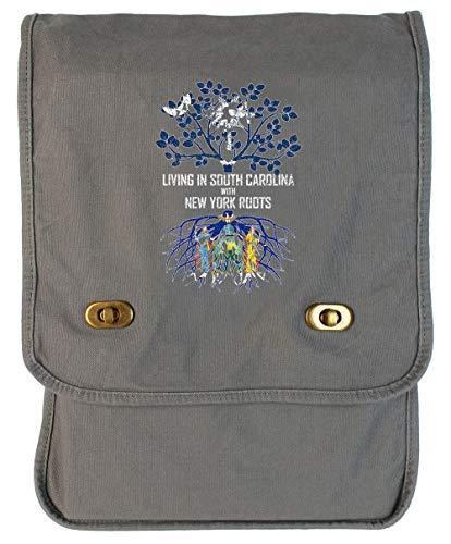 Tenacitee Living In South Carolina with New York Roots Smoke Grey Canvas Field Bag]()