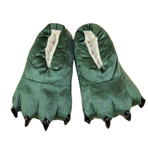 Costume Zampa Unisex Caldo Animal Morbido Scarpe Cosplay B Verde Pantofole Artiglio Casa Peluche Magicmode fvIqqH