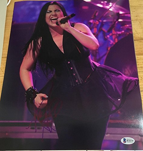 AMY LEE SIGNED AUTOGRAPH VERY RARE EVANESCENCE SEXY SINGER STAGE 11x14 PHOTO BAS - Beckett Authentication