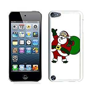 Ipod 5 Cases,Merry Christmas Santa Claus White Hard Shell Plastic Apple Ipod Touch 5th Cases