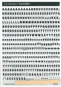 Letraset RDC0251 - Plantilla con letras (A5, 5 mm, fluente: Helvetica BC), negro
