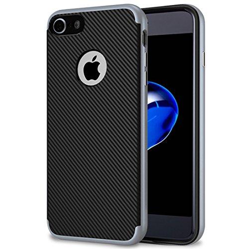 iPhone 7 Hülle , Ubegood Kratzfeste TPU Case [TPU Schale + PC Rahmen] für iPhone 7 Case Schutzhülle für iPhone 7 (Grau)