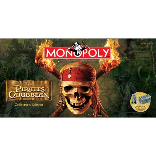 Usaopoly Pirates Of The Caribbean Collectors Edition Monopoly Inc MN004123