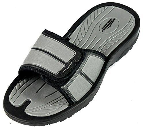 SLR Brands Mens adjustable sandals - Shower Flip Flops For Men | Nonslip Men