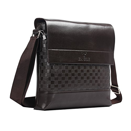 Eagle - Bolso al hombro para hombre negro Black - 1587 mediano Brown Fashion Model-387