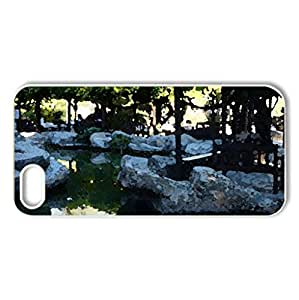 laura park - Case Cover for iPhone 5 and 5S (Watercolor style, White)