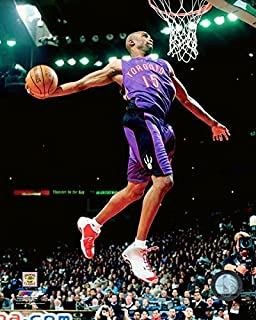 Vince Carter Toronto Raptors NBA Slam Dunk Action Photo (Size: 11