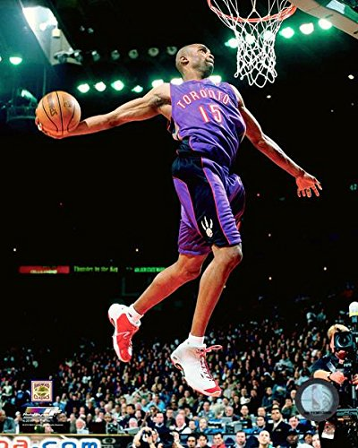 Vince Carter Toronto Raptors NBA Slam Dunk Action Photo (Size: 8