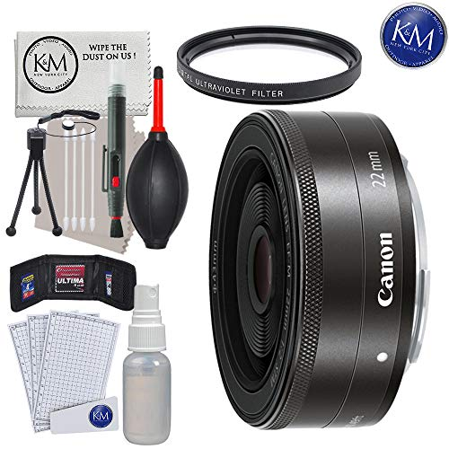 Canon EF-M 22mm f/2 STM Lens with Essential Lens - Interchangeable Canon Lens