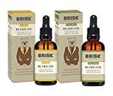 Brisk Grooming Citrus and Tea Tree Beard Oil Variety Pack, 2 Count
