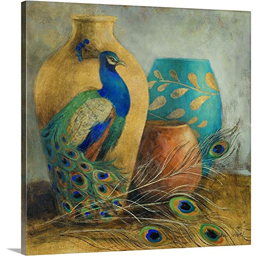 Peacock Vessels I Canvas Wall Art Print, 12
