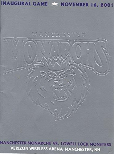 Manchester Monarchs Inaugural Game Program November 16, 2001