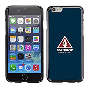 Apple (4.7 inches!!!) iPhone 6 / 6S - Metal de aluminio y de plástico duro Caja del teléfono - Negro - 404 Error - Girlfriend Not Found - Funny