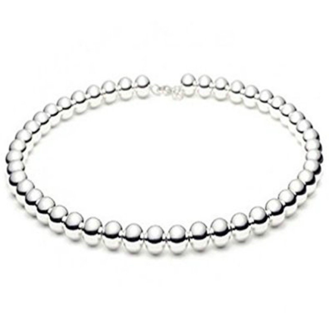 Beaded Necklace Shiny High Polished Ball Bead 925 Sterling Silver Choose Bead /& Length