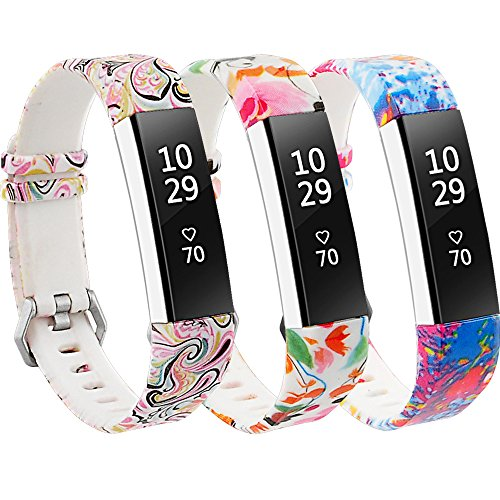 RedTaro Bands Compatible with Fitbit Alta and Fitbit Alta HR,Pack of 3(Paisley,Lotus,Splash-Ink),Standard Size for 5.5-8.1 Wrists