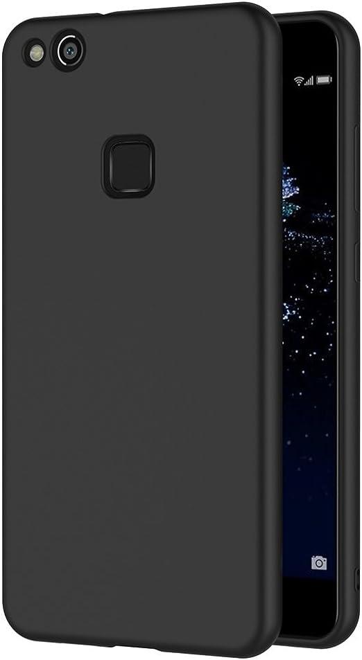 AICEK Funda Huawei P10 Lite, Negro Silicona Fundas para P10 Lite ...