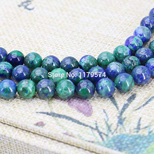 Calvas 8mm Fashion Lapis Lazuli Stone Azurite Chrysocolla DIY Beads Accessories Parts Crafts Loose Beads Jewelry Making Design 15inch