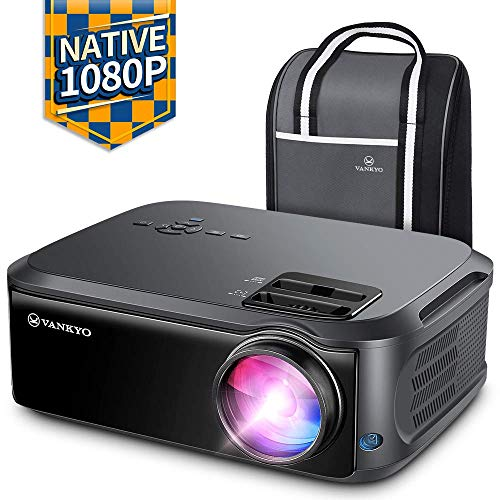 "VANKYO Performance V620 Native 1080P Projector, 6000 LUX Full HD Video Projector, 200"" Display with 55,000 Hrs Lamp Life, Support TV Stick, Laptop, HDMI, USB, Smartphone for Home and Office Purpose"