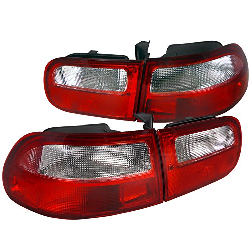 Spec-D Tuning LT-CV923RPW-RS Spec-D Tail Lights Red Clear ()