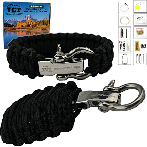 Paracord Grenade And Paracord Bracelet Set By The Camping Trail. Over 21 Ft Of Paracord And 17 Pieces Make This Great Survival Gear To Carry. - 62% Contains Alcohol