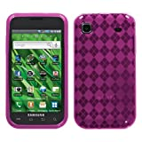 Samsung T959 I9000 Vibrant Galaxy S 4G Soft Skin Case Hot Pink Argyle Candy Skin T-Mobile