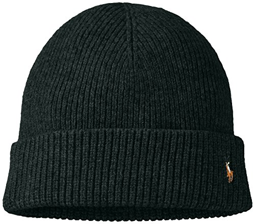 n's Merino Wool Watch Cap Black Pine One Size ()