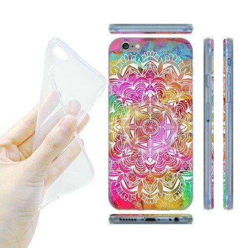 Head Case Designs Watercolour Mandala Doodles Soft Gel Back Case Cover for Apple iPhone 6 4.7