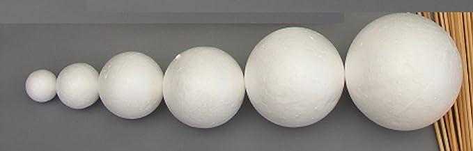 Haz tu propio Modelo del sistema Solar, 14 bolas de tamaño mixto de poliestireno, de 2 cm a 7 cm de diámetro y varillas de 20 cm de largo, para proyectos escolares: