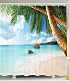 Palm Tree Shower Curtain Decor