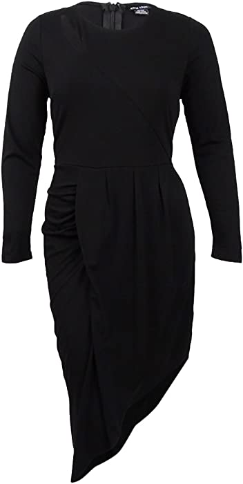 e7a4afab6077d Designer Plus Size DRESS WRAPPED UP - Black - 22   XL