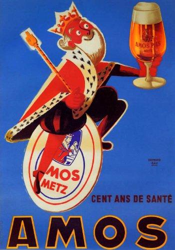 Amos PilsブロンドビールKing Holdingガラス16