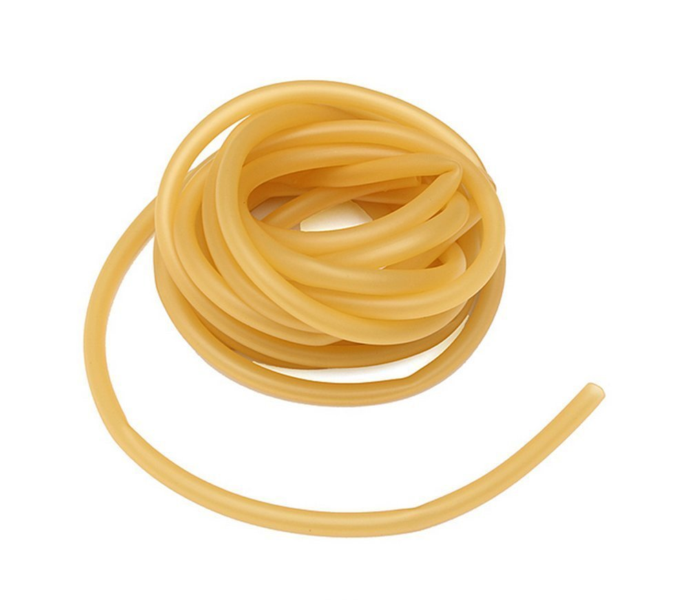 QTMY 6x9mm Natural Latex Rubber Band Hose for Slingshot Catapult Surgical Tube 3m