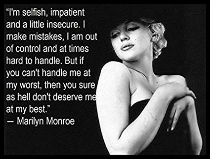 Marilyn Monroe Quote | Marilyn Monroe Quote Fridge Magnet 3 5 X 5 Magnetic Poster Canvas Print