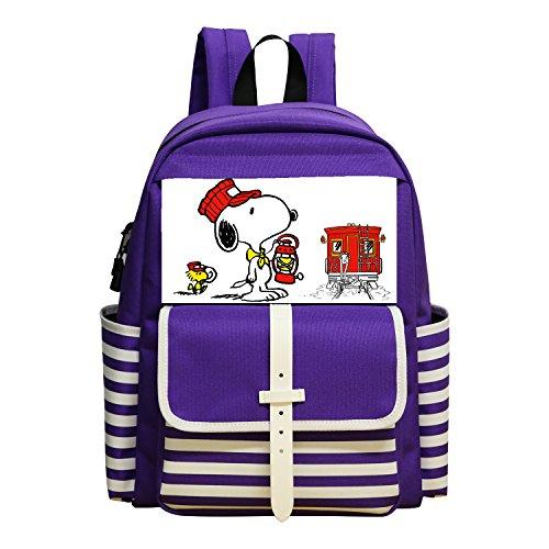 OLBB Lovely Purple-Backpack/School Bag Snoopy For kid Children Girls (Funny Pics Kid Friendly)