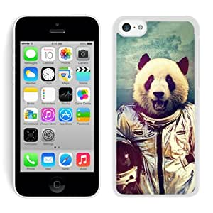 High Quality iPhone 5C Case ,Cool And Fantastic Designed Case With NASA Space Panda White iPhone 5C Cover