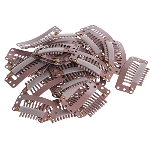 Redriver 100PCS Snap Wig Hair Clips for Hairs Extension Weft