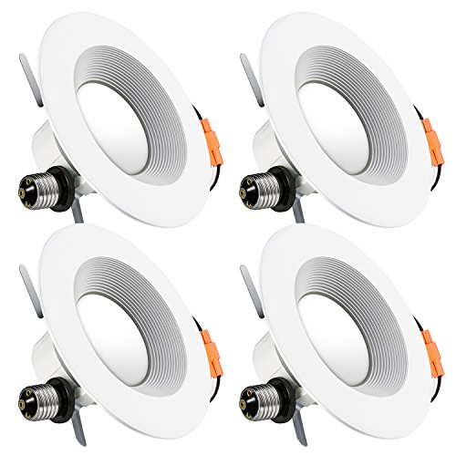 Recessed LED Lighting,LuminWiz 5/6 inch 14W 4000K CRI90 Daylight White Dimmable LED Downlight Retrofit Lighting Fixture,LED Ceiling Light,100W Equivalent,Energy Star,UL Listed,4-Pack