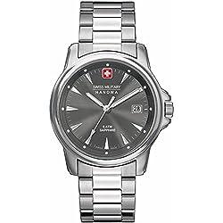 Swiss Military Hanowa Men's 06-5044-1-04-009 Silver Stainless-Steel Swiss Quartz Watch with Grey Dial
