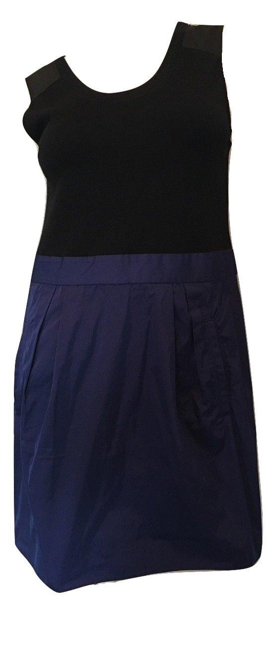 Theory Women's Dristi Notorious LGT Dress in Black/Night Flight Size 12