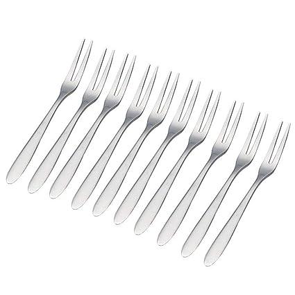 IETONE 20 Piezas Tenedores de Cóctel de Acero Inoxidable ...