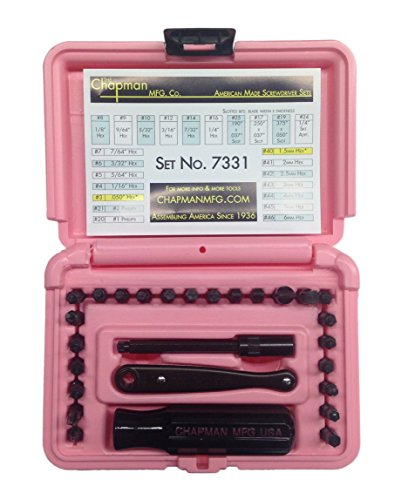 Chapman MFG #7331PINK Screwdriver tools Set SAE & Metric All