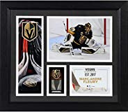"""Marc-Andre Fleury Vegas Golden Knights Framed 15"""" x 17"""" Player Collage with a Piece of Game-Used Puc"""