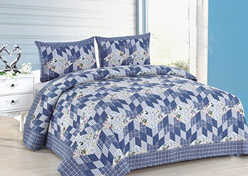 American Hometex Romantic Stairs Quilt Set, King