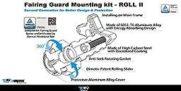 Dimotiv Roll Series Fairing Guard Slider for YAMAHA XJ6N 2009-2015 (BLACK)