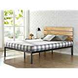 Canada's Best Mattress Sonoma Metal & Wood Platform Bed with Wood Slat Support, Full